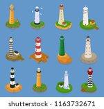 lighthouse vector beacon... | Shutterstock .eps vector #1163732671