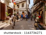 Small photo of Zanzibar, Tanzania. 06/21/2018. Street of the historic center of the old town of Stone Town