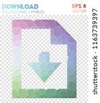download polygonal symbol ... | Shutterstock .eps vector #1163739397