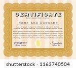 orange diploma template.... | Shutterstock .eps vector #1163740504