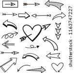 set of arrows vector...   Shutterstock .eps vector #1163747227
