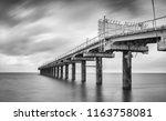black and white photo of beach...   Shutterstock . vector #1163758081