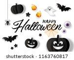 halloween banner design with... | Shutterstock .eps vector #1163760817