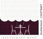 restaurant menu design | Shutterstock . vector #116376667