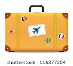 vintage suitcase with funky...   Shutterstock .eps vector #116377204