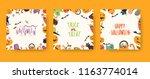 vector illusrations set for... | Shutterstock .eps vector #1163774014