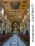 Small photo of Rome, Italy, 07/21/18: Basilica of San Lorenzo in Lucina in Rome, Italy