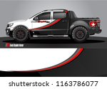 truck and car graphic vector.... | Shutterstock .eps vector #1163786077