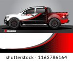 truck and car graphic vector.... | Shutterstock .eps vector #1163786164