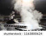 geysers at geyser del tatio   Shutterstock . vector #1163800624