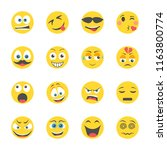 emoticons isometric icons    Shutterstock .eps vector #1163800774