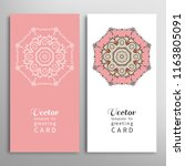 cards or invitations set with... | Shutterstock .eps vector #1163805091