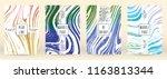 digital marble cover design for ... | Shutterstock .eps vector #1163813344