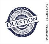 blue question distress rubber... | Shutterstock .eps vector #1163815141