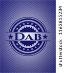 dab badge with jean texture | Shutterstock .eps vector #1163815234