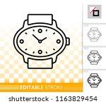 wristwatch thin line icon....   Shutterstock .eps vector #1163829454