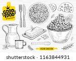 good food premium market  logo... | Shutterstock .eps vector #1163844931