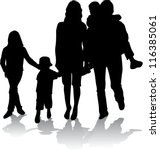family silhouettes | Shutterstock .eps vector #116385061