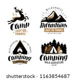campaign logo or label. hiking... | Shutterstock .eps vector #1163854687