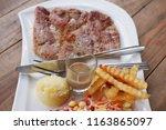 healthy  food  set. | Shutterstock . vector #1163865097
