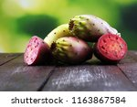 fruits of the prickly pear... | Shutterstock . vector #1163867584
