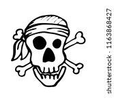 pirate skull  design element... | Shutterstock .eps vector #1163868427