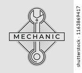 auto mechanic service. mechanic ... | Shutterstock .eps vector #1163869417