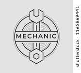 auto mechanic service. mechanic ... | Shutterstock .eps vector #1163869441