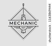 auto mechanic service. mechanic ... | Shutterstock .eps vector #1163869444