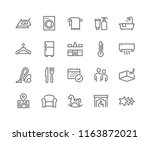simple set of hotel related... | Shutterstock .eps vector #1163872021