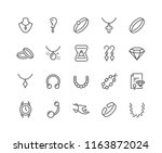 simple set of jewelry related... | Shutterstock .eps vector #1163872024