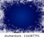 blue winter frame background   Shutterstock . vector #116387791