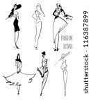 fasion icons | Shutterstock .eps vector #116387899