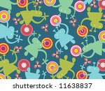 funny aliens and retro circles  ... | Shutterstock .eps vector #11638837