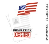 immigration american visa... | Shutterstock .eps vector #1163885161
