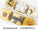 flat lay christmas or party... | Shutterstock . vector #1163894911