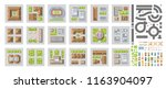 vector set of landscape... | Shutterstock .eps vector #1163904097