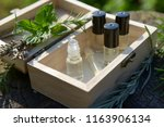natural eco aromatherapy ... | Shutterstock . vector #1163906134