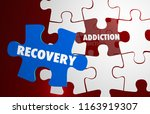 addiction recovery kick habit... | Shutterstock . vector #1163919307