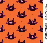 happy halloween pattern with bat | Shutterstock .eps vector #1163920267