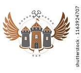 ancient bastion emblem.... | Shutterstock .eps vector #1163924707