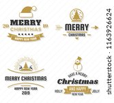 christmas vector logo for... | Shutterstock .eps vector #1163926624