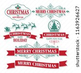 christmas vector logo for... | Shutterstock .eps vector #1163926627