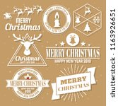 christmas vector logo for... | Shutterstock .eps vector #1163926651
