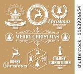 christmas vector logo for...   Shutterstock .eps vector #1163926654