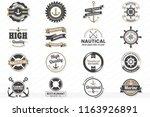 vintage retro vector logo for... | Shutterstock .eps vector #1163926891