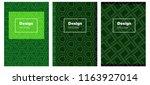 dark green vector brochure for...
