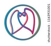 two hearts unite in infinity... | Shutterstock .eps vector #1163931001