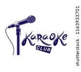 karaoke club inscription ...   Shutterstock .eps vector #1163933701