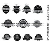 vector illustration of labels. | Shutterstock .eps vector #116394181